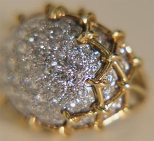 1970's Diamond Pave Dome ring